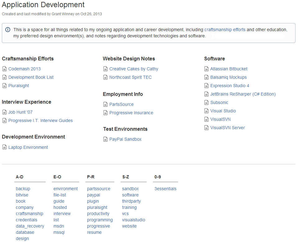 Confluence - App Dev Space