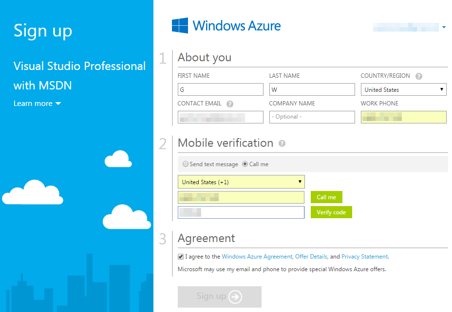 Claiming your Azure credits from MSDN