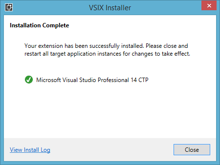 VS14ExtensionFinished
