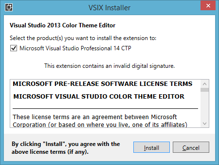 VS14ExtensionWorking