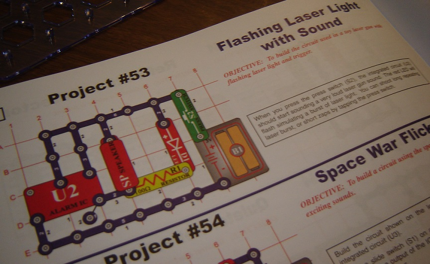 snap circuits jr laser experiment