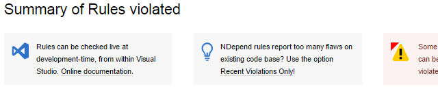 ndepend recent violations only suggestion