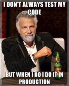 i don't always test but when i do i test in prod