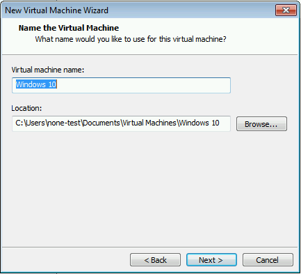Windows 10 VMware Setup 005