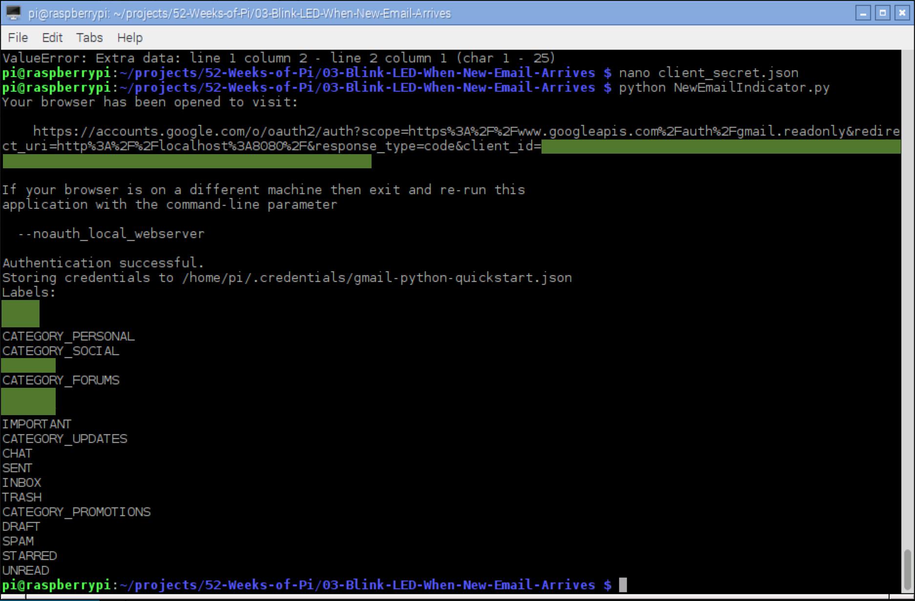 gmail api setup 4