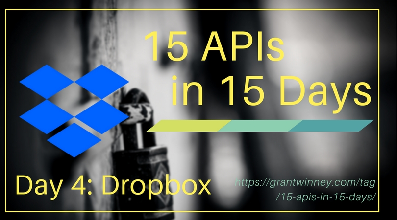 Managing files and folders in a Dropbox account using the Dropbox API