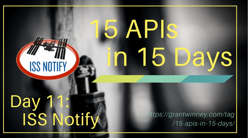 Discover where the ISS is, where it will be, and who's on it with the ISS Notify API