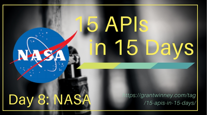 Accessing photos of the Mars Rover, space, landsat images, and more with the NASA API