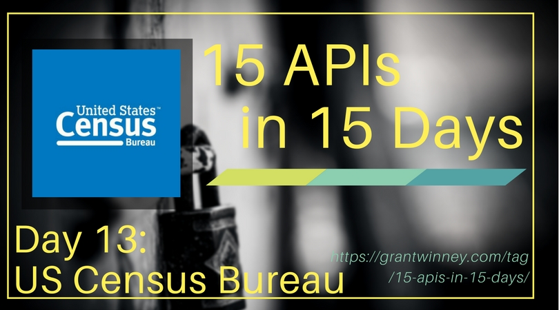 Accessing census, demographic, and housing data with the US Census Bureau API
