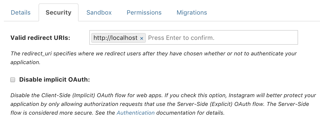 instagram-api---enable-implicit-auth
