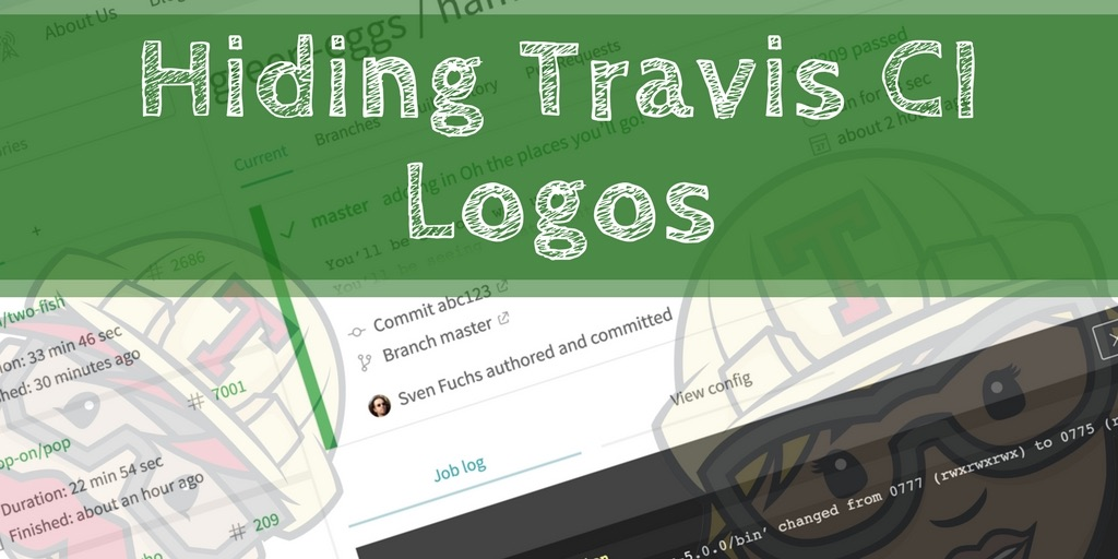 Hiding Travis CI logos between page loads