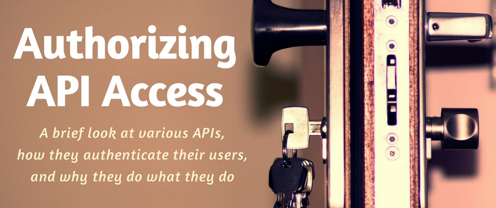 A look at the many ways APIs can authorize access