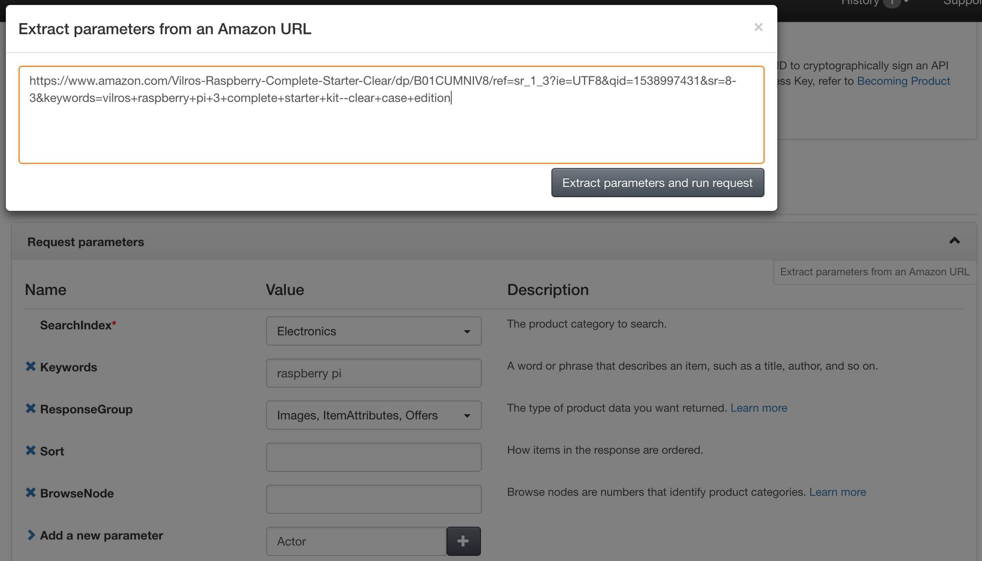 Querying Amazon's product details with the Amazon Product