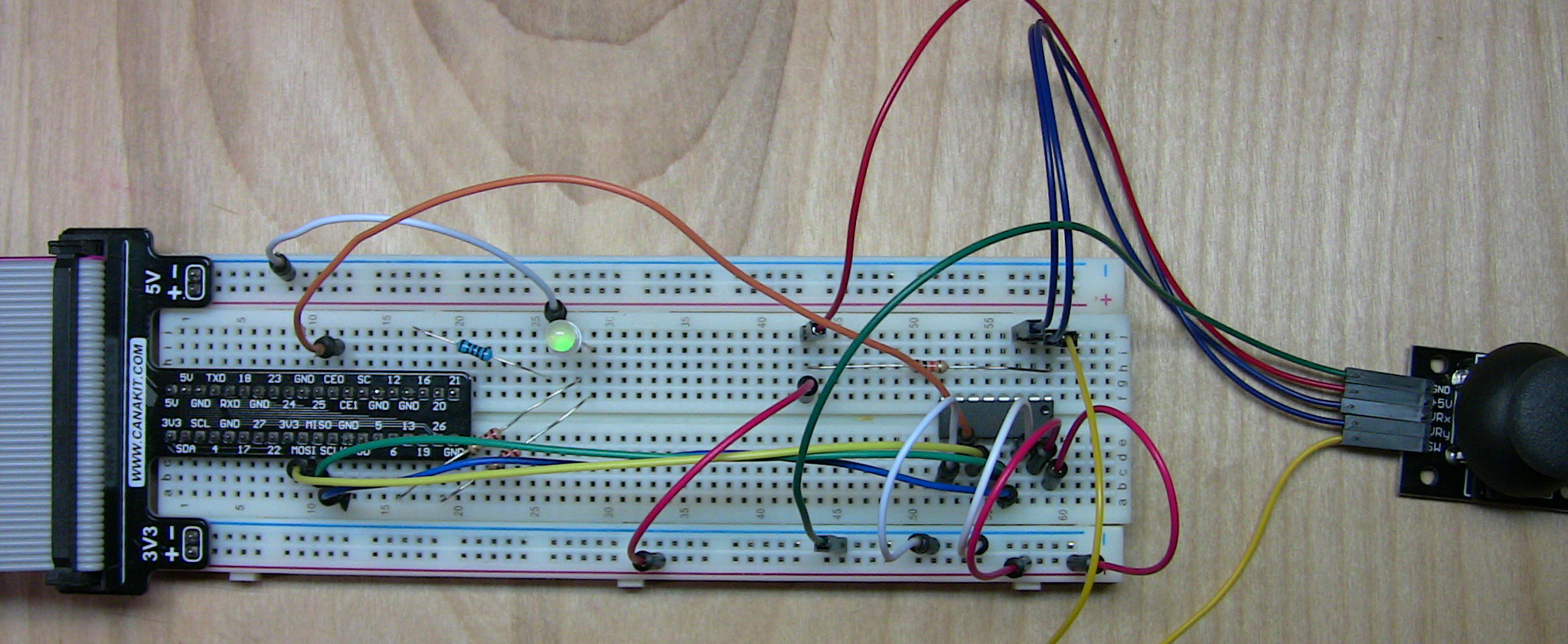 Connecting an Analog Joystick to the Raspberry Pi (and using
