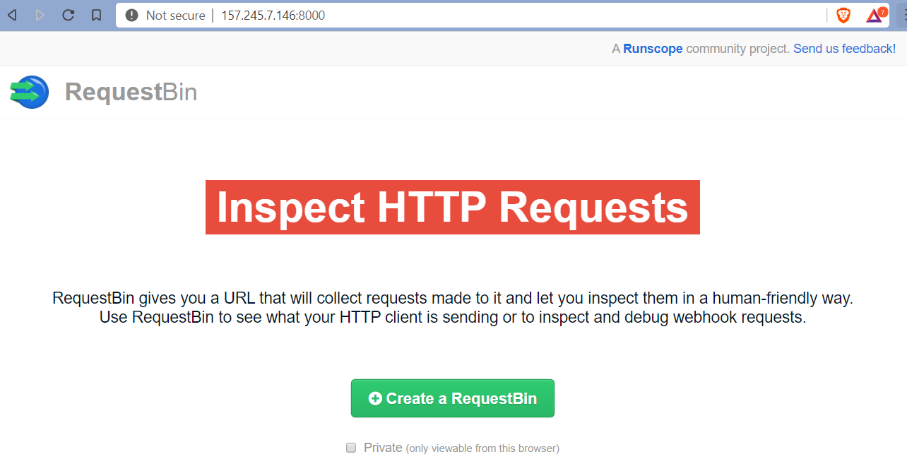 How to deploy your own RequestBin in under 20 minutes